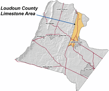 Loudoun County Limestone Area Map