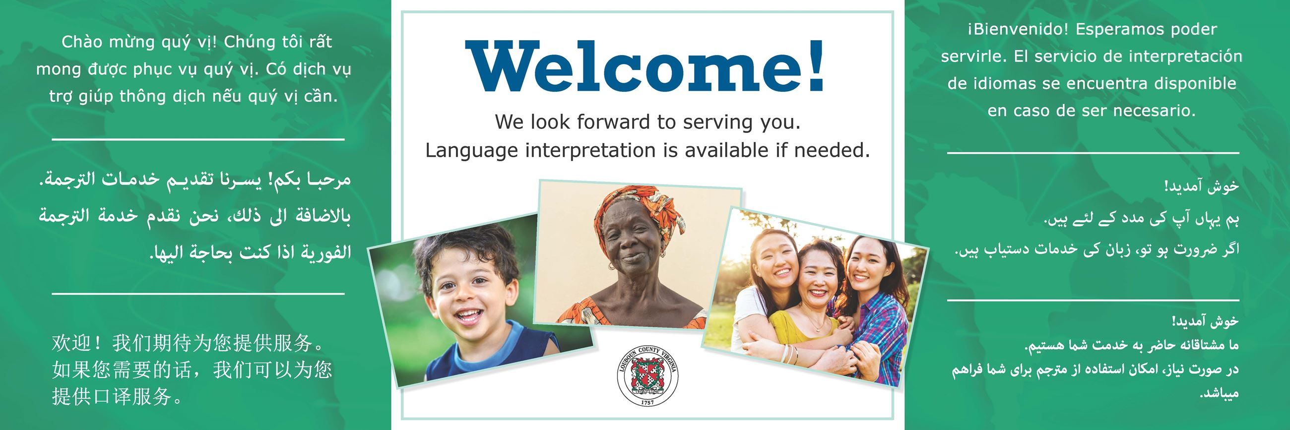 Welcome! Interpretation is available if you need this service.