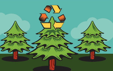 Image of Christmas Tree Recycling Graphic