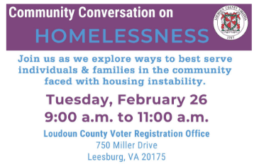 Graphic for Homelessness Community Conversation