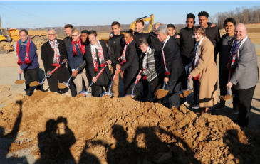 Photo of groundbreaking ceremony for soccer stadium in Loudoun County