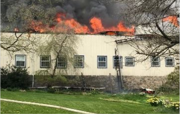 Photo of house fire in Aldie, Virginia