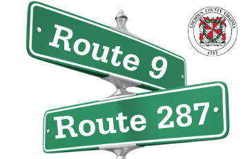 Image of Route 9-287 intersection signs