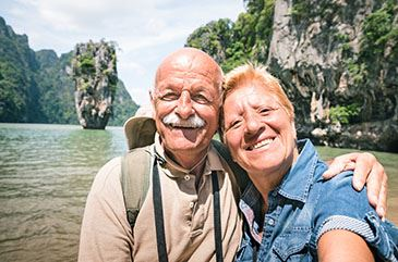 Image of senior couple on a trip
