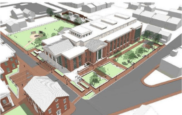 Image of rendering of new Loudoun County Courthouse