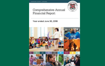 Image of cover of award-winning FY 2018 Comprehensive Annual Financial Report