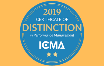 Image of ICMA Distinction in Performance Management Award Graphic