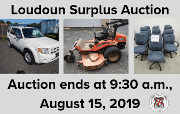 Images of items for sale in the Loudoun County surplus auction-August 2019