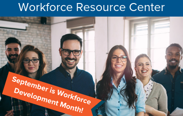 Image of Workforce Development Month Graphic for Workforce Resource Center
