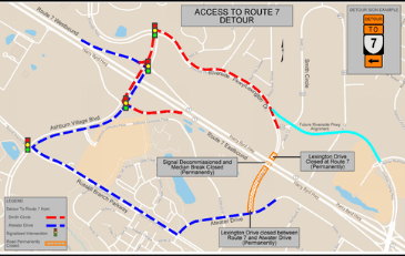 Image of Route 7 Detour Map