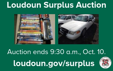 Image of Loudoun Surplus Auction Graphic with photos of items for sale