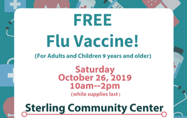 Image of flyer advertising flu clinic