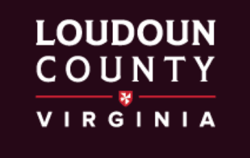 Loudoun County Wordmark on Black Background