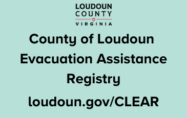 Image of County of Loudoun Evacuation Assistance Registry (CLEAR) graphic
