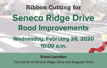 Image of invitation to Seneca Ridge Drive ribbon cutting ceremony