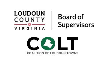 Image of Loudoun County Board of Supervisors Wordmark and Coalition of Loudoun Towns Logo