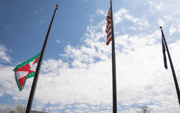 Image of Loudoun County Flag Lowered