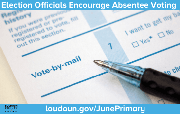 Image of absentee ballot application