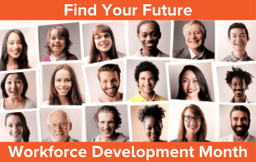 Image of Workforce Development Month Graphic