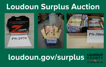 Image of items for sale in Loudoun surplus auction