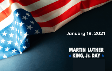 Image of Martin Luther King Jr Day holiday graphic