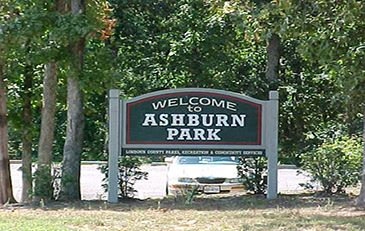 Picture of Ashburn Park sign