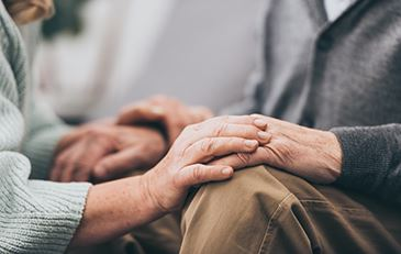 Picture of elderly couple's hands