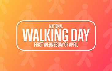 Color Graphic for National Walking Day