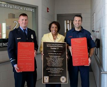 LCFR Fire Station 627 Grand Opening - Plaque Newsflash